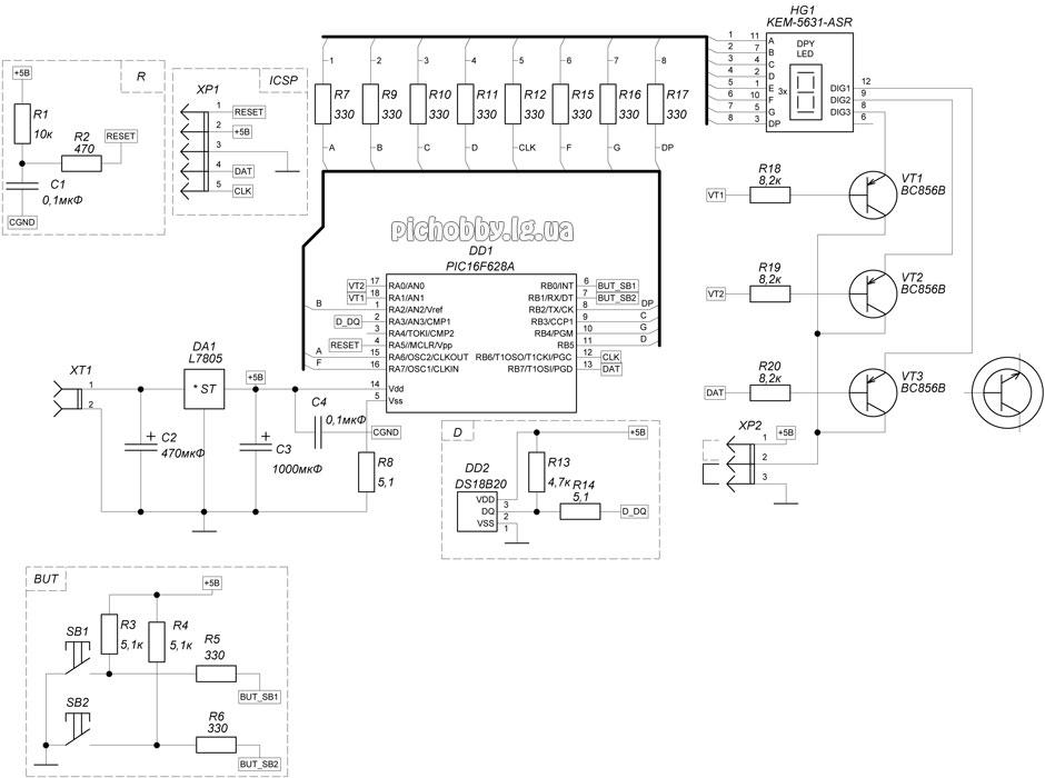 Рисунок 1 - Схема термометра