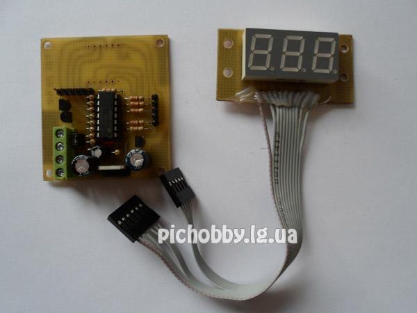 Внешний вид вольтметра на PIC16F676
