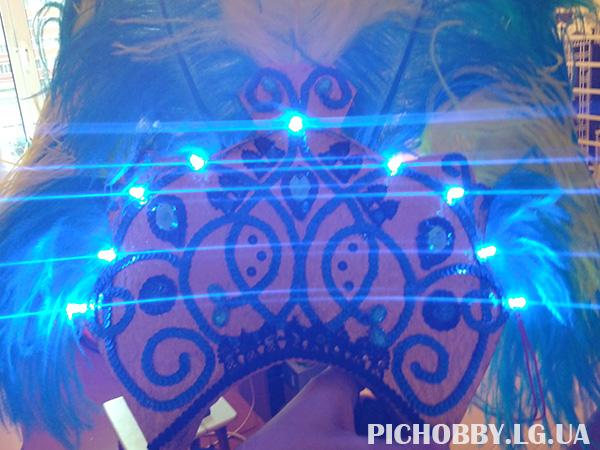 Оформление костюмов светодиодами фото