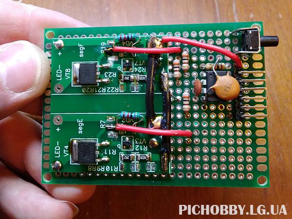 Печатная плата с двумя  стабилизаторами токов для костюмов Мелифисенты фото