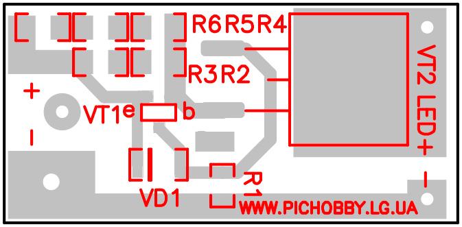 Печатная плата стабилизатора тока на полевом транзисторе
