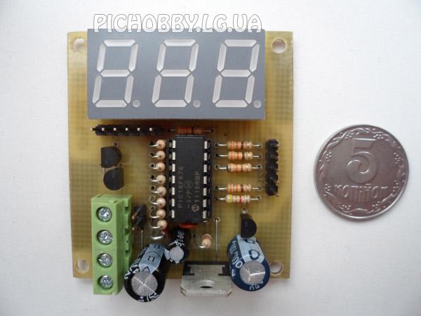 Внешний вид вольтметра постоянного тока на PIC16F676